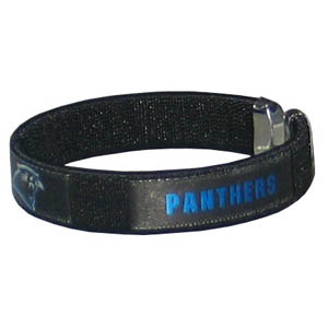 Carolina Panthers Fan Band Bracelet - Our NFL Carolina Panthers fan band is a one size fits all string cuff bracelets with a Carolina Panthers screen printed ribbon with the Carolina Panthers name and Carolina Panthers logo. Officially licensed NFL product Licensee: Siskiyou Buckle Thank you for visiting CrazedOutSports.com