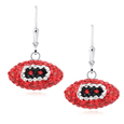 Arizona Cardinals crystal football dangle earrings - Arizona Cardinals crystal football dangle earrings feature Arizona Cardinals colored Austrian crystals, football dimensions: 17mm, slightly smaller than a dime. Officially licensed.