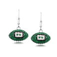 Philadelphia Eagles crystal football dangle earrings - Philadelphia Eagles crystal football dangle earrings feature Philadelphia Eagles colored Austrian crystals, football dimensions: 17mm, slightly smaller than a dime. Officially licensed.