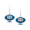 Detroit Lions crystal football dangle earrings - Detroit Lions crystal football dangle earrings feature Detroit Lions colored Austrian crystals, football dimensions: 17mm, slightly smaller than a dime. Officially licensed.