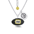 Pittsburgh Steelers Sterling Silver Necklace with Crystal Football Pendant - This Pittsburgh Steelers sterling silver necklace is a beautiful way to show off your love for the Pittsburgh Steelers. The 16 inch chain features a Pittsburgh Steelers crystal football pendant and etched silver Pittsburgh Steelers pendant. Officially licensed NFL product Licensee: Siskiyou Buckle Thank you for visiting CrazedOutSports.com