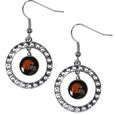 Cleveland Browns Rhinestone Hoop Earrings