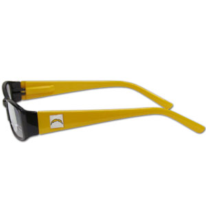 "San Diego Chargers NFL Reading Glasses  - These San Diego Chargers NFL reading glasses are 5.25"" wide with 5.5"" arms with San Diego Chargers colored frames featuring the San Diego Chargers logo on each arm. Officially licensed NFL product Licensee: Siskiyou Buckle .com"