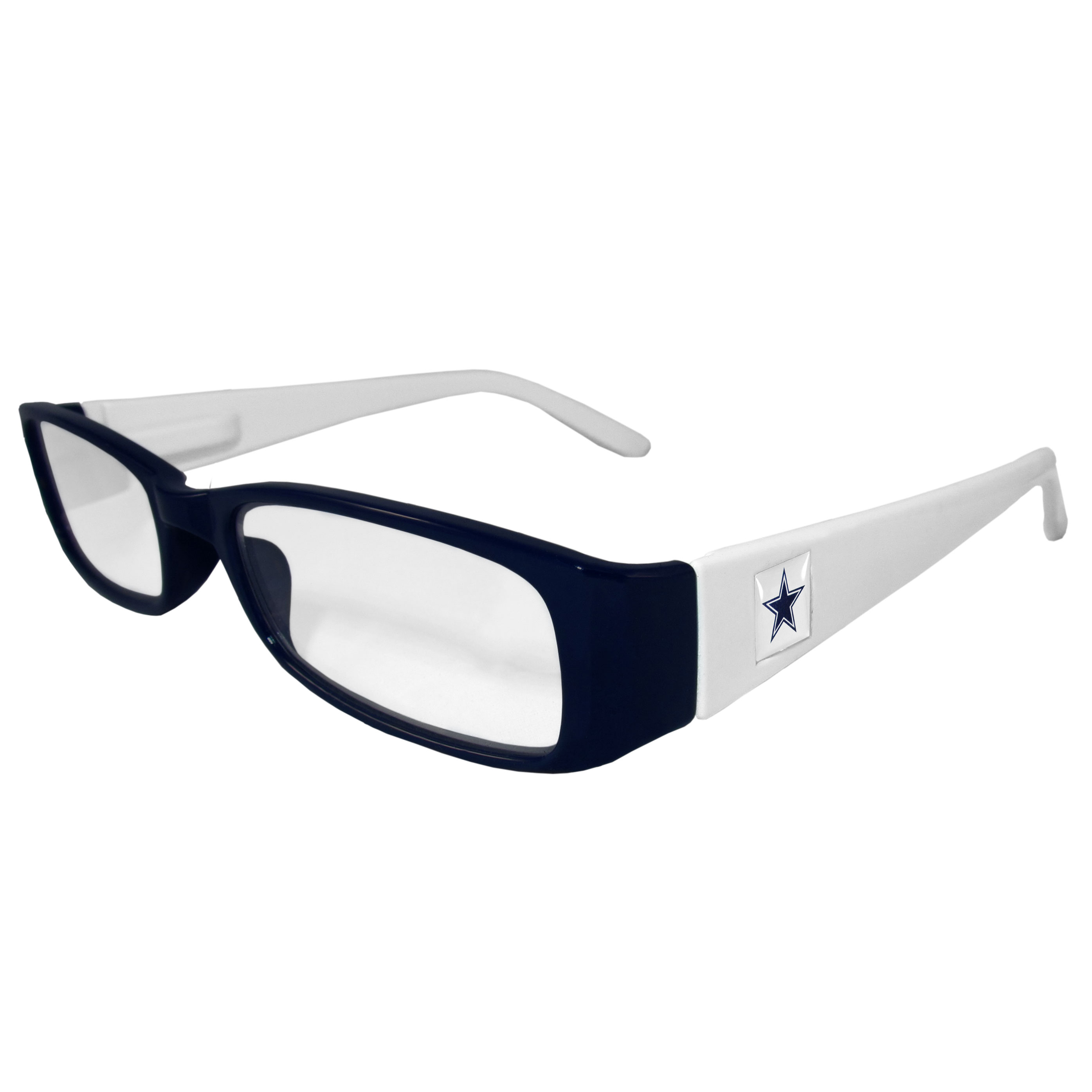 Dallas Cowboys Reading Glasses +1.25 - Our Dallas Cowboys reading glasses are 5.25 inches wide and feature the team logo on each arm. Magnification Power 1.25