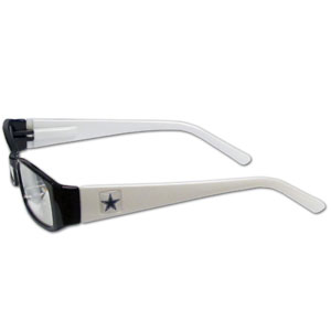 "Dallas Cowboys NFL Reading Glasses - These Dallas Cowboys NFL reading glasses are 5.25"" wide with 5.5"" arms with Dallas Cowboys colored frames featuring the Dallas Cowboys logo on each arm. Officially licensed NFL product Licensee: Siskiyou Buckle Thank you for visiting CrazedOutSports.com"