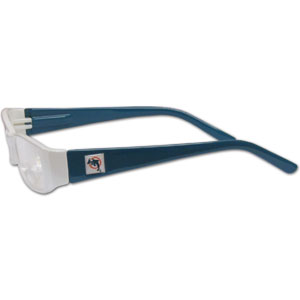 "Miami Dolphins NFL Reading Glasses +2.50 - Our Miami Dolphins NFL readers glasses are 5.25"" wide with 5.5"" arms with team colored frames featuring the Miami Dolphins logo on each arm. Power +2.50 Officially licensed NFL product Licensee: Siskiyou Buckle .com"