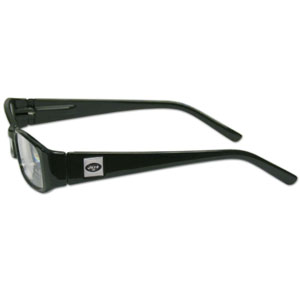 "New York Jets NFL Reading Glasses  - These New York Jets NFL reading glasses are 5.25"" wide with 5.5"" arms with New York Jets colored frames featuring the New York Jets logo on each arm. Officially licensed NFL product Licensee: Siskiyou Buckle Thank you for visiting CrazedOutSports.com"