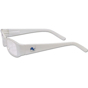 "Detroit Lions NFL Reading Glasses - These Detroit Lions NFL reading glasses are 5.25"" wide with 5.5"" arms with Detroit Lions colored frames featuring the Detroit Lions logo on each arm. Officially licensed NFL product Licensee: Siskiyou Buckle .com"