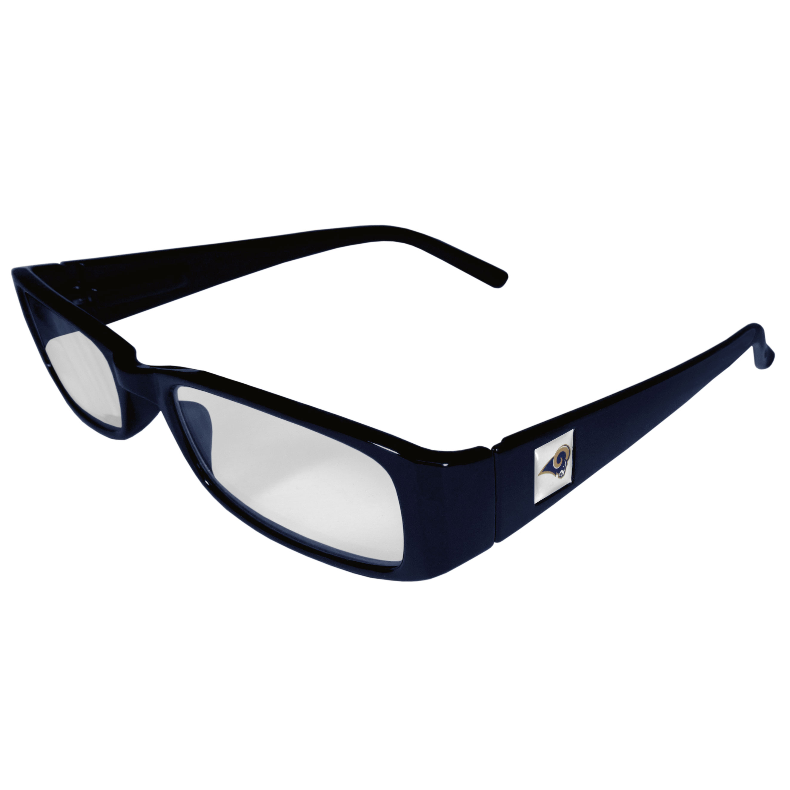 St. Louis Rams Reading Glasses +1.25 - Our St. Louis Rams reading glasses are 5.25 inches wide and feature the team logo on each arm. Magnification Power 1.25