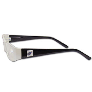 "Tennessee Titans NFL Reading Glasses - These Tennessee Titans NFL reading glasses are 5.25"" wide with 5.5"" arms with team colored frames featuring the Tennessee Titans logo on each arm. Officially licensed NFL product Licensee: Siskiyou Buckle .com"