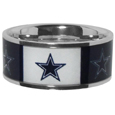 Dallas Cowboys Steel Inlaid Ring - Our high-quality Dallas Cowboys stainless steel ring is a classy way to show off your team pride. The ring features crisp, inlaid team graphics.