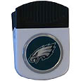 Philadelphia Eagles Clip Magnet - Use this attractive NFL clip magnet to hold memos, photos or appointment cards on the fridge or take it down keep use it to clip bags shut. The magnet features a domed Philadelphia Eagles logo. Officially licensed NFL product Licensee: Siskiyou Buckle .com
