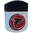 Atlanta Falcons Clip Magnet - Use this attractive NFL clip magnet to hold memos, photos or appointment cards on the fridge or take it down keep use it to clip bags shut. The magnet features a domed Atlanta Falcons logo. Officially licensed NFL product Licensee: Siskiyou Buckle .com