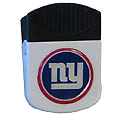 New York Giants Clip Magnet - Use this attractive NFL clip magnet to hold memos, photos or appointment cards on the fridge or take it down keep use it to clip bags shut. The magnet features a domed New York Giants logo. Officially licensed NFL product Licensee: Siskiyou Buckle .com