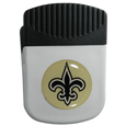 New Orleans Saints Chip Clip Magnet - Use this attractive clip magnet to hold memos, photos or appointment cards on the fridge or take it down keep use it to clip bags shut. The magnet features a domed New Orleans Saints logo.