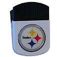 Pittsburgh Steelers Clip Magnet - Use this attractive NFL clip magnet to hold memos, photos or appointment cards on the fridge or take it down keep use it to clip bags shut. The magnet features a domed Pittsburgh Steelers logo. Officially licensed NFL product Licensee: Siskiyou Buckle .com