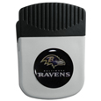 Baltimore Ravens Chip Clip Magnet - Use this attractive clip magnet to hold memos, photos or appointment cards on the fridge or take it down keep use it to clip bags shut. The magnet features a domed Baltimore Ravens logo.