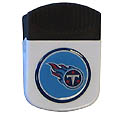 Tennessee Titans Clip Magnet - Use this attractive NFL clip magnet to hold memos, photos or appointment cards on the fridge or take it down keep use it to clip bags shut. The magnet features a domed Tennessee Titans logo. Officially licensed NFL product Licensee: Siskiyou Buckle .com