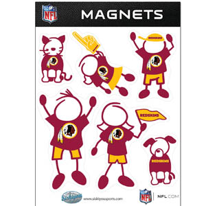 Washington Redskins Family Magnets - Our Washington Redskins family magnet set has father, mother, daughter, son, dog and cat all showing off their Washington Redskins pride! Officially licensed NFL product Licensee: Siskiyou Buckle Thank you for visiting CrazedOutSports.com