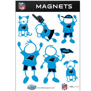 Carolina Panthers Family Magnets - Our Carolina Panthers family magnet set has father, mother, daughter, son, dog and cat all showing off their Carolina Panthers pride! Officially licensed NFL product Licensee: Siskiyou Buckle Thank you for visiting CrazedOutSports.com