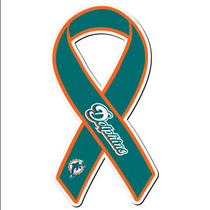 Miami Dolphins Ribbon Magnet - Show your love for your favorite team with this NFL ribbon magnet. Officially licensed NFL product Licensee: Siskiyou Buckle .com