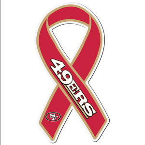 San Francisco 49ers Ribbon Magnet - Show your love for your favorite team with this NFL ribbon magnet. Officially licensed NFL product Licensee: Siskiyou Buckle .com