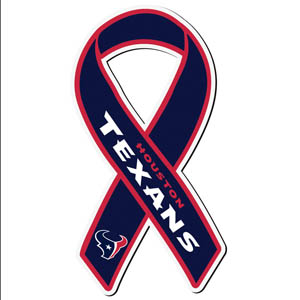 Houston Texans Ribbon Magnet - Show your love for your favorite team with this NFL ribbon magnet. Officially licensed NFL product Licensee: Siskiyou Buckle .com