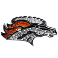 Denver Broncos Crystal Ring - This silver plated stretch ring has a big Denver Broncos crystal logo.  The ring stretches to fit sizes 6-9 comfortably.
