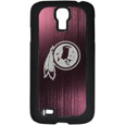 Washington Redskins Etched Samsung Galaxy S4 Case - This ultra cool hard shell snap on case provides great protection for the phone while the soft rubber finish adds to your grip to help prevent dropping the phone. This stylish case is finished off with a brushed metal team plate with laser etched Washington Redskins team logo. Officially licensed NFL product Licensee: Siskiyou Buckle Thank you for visiting CrazedOutSports.com