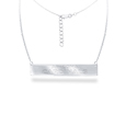 Arizona Cardinals Silver Necklace with Bar Pendant - Class meets sports with our officially licensed sterling silver bar necklace. The 16 inch silver necklace features a finely stamped Arizona Cardinals logo.