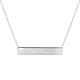 Dallas Cowboys Silver Necklace with Bar Pendant - Class meets sports with our officially licensed sterling silver bar necklace. The 16 inch silver necklace features a finely stamped Dallas Cowboys logo.