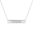 San Francisco 49ers Silver Necklace with Bar Pendant - Class meets sports with our officially licensed sterling silver bar necklace. The 16 inch silver necklace features a finely stamped San Francisco 49ers logo.