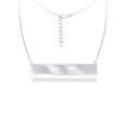 New York Jets Silver Necklace with Bar Pendant - Class meets sports with our officially licensed sterling silver bar necklace. The 16 inch silver necklace features a finely stamped New York Jets logo.