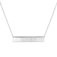 Green Bay Packers Silver Necklace with Bar Pendant - Class meets sports with our officially licensed sterling silver bar necklace. The 16 inch silver necklace features a finely stamped Green Bay Packers logo.