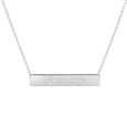 Pittsburgh Steelers Silver Necklace with Bar Pendant - Class meets sports with our officially licensed sterling silver bar necklace. The 16 inch silver necklace features a finely stamped Pittsburgh Steelers logo.