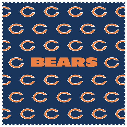 "Chicago Bears Sunglass Microfiber Cleaning Cloth - Our NFL Chicago Bears sunglass cleaning cloth is a 6.75"" square microfiber cloth that is perfect for keeping your sunglass free of dirt, oil, residue and smudges. The set includes 2 clothes with Chicago Bears logo pattern.  Officially licensed NFL product Licensee: Siskiyou Buckle .com"