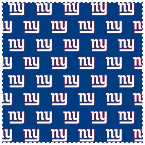 "New York Giants Sunglass Microfiber Cleaning Cloth - Our NFL New York Giants sunglass cleaning cloth is a 6.75"" square microfiber cloth that is perfect for keeping your sunglass free of dirt, oil, residue and smudges. The set includes 2 clothes with New York Giants logo pattern.  Officially licensed NFL product Licensee: Siskiyou Buckle .com"