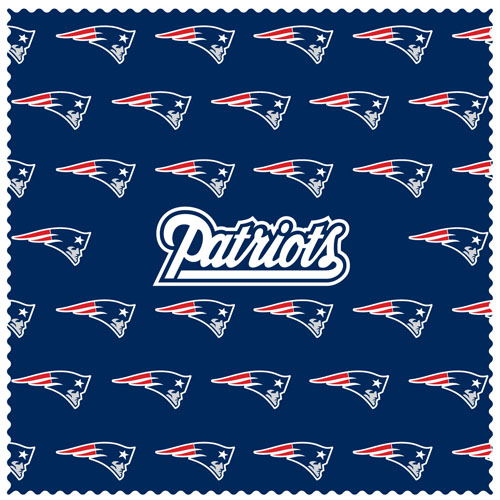"New England Patriots Sunglass Microfiber Cleaning Cloth - Our NFL New England Patriots sunglass cleaning cloth is a 6.75"" square microfiber cloth that is perfect for keeping your sunglass free of dirt, oil, residue and smudges. The set includes 2 clothes with New England Patriots logo pattern.  Officially licensed NFL product Licensee: Siskiyou Buckle .com"