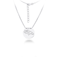 Denver Broncos Silver Necklace with Round Pendant - Class meets sports with our officially licensed sterling silver circle necklace. The 16 inch silver necklace features a finely stamped Denver Broncos logo.
