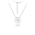 Tampa Bay Buccaneers Silver Necklace with Round Pendant - Class meets sports with our officially licensed sterling silver circle necklace. The 16 inch silver necklace features a finely stamped Tampa Bay Buccaneers logo.