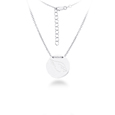 Arizona Cardinals Silver Necklace with Round Pendant - Class meets sports with our officially licensed sterling silver circle necklace. The 16 inch silver necklace features a finely stamped Arizona Cardinals logo.