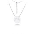 San Diego Chargers Silver Necklace with Round Pendant - Class meets sports with our officially licensed sterling silver circle necklace. The 16 inch silver necklace features a finely stamped San Diego Chargers logo.