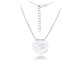 Kansas City Chiefs Silver Necklace with Round Pendant - Class meets sports with our officially licensed sterling silver circle necklace. The 16 inch silver necklace features a finely stamped Kansas City Chiefs logo.