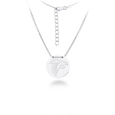 Atlanta Falcons Silver Necklace with Round Pendant - Class meets sports with our officially licensed sterling silver circle necklace. The 16 inch silver necklace features a finely stamped Atlanta Falcons logo.