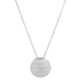 San Francisco 49ers Silver Necklace with Round Pendant - Class meets sports with our officially licensed sterling silver circle necklace. The 16 inch silver necklace features a finely stamped San Francisco 49ers logo.