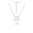 Detroit Lions Silver Necklace with Round Pendant - Class meets sports with our officially licensed sterling silver circle necklace. The 16 inch silver necklace features a finely stamped Detroit Lions logo.