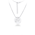 Washington Redskins Silver Necklace with Round Pendant - Class meets sports with our officially licensed sterling silver circle necklace. The 16 inch silver necklace features a finely stamped Washington Redskins logo.