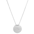 Seattle Seahawks Silver Necklace with Round Pendant - Class meets sports with our officially licensed sterling silver circle necklace. The 16 inch silver necklace features a finely stamped Seattle Seahawks logo.