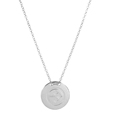 Pittsburgh Steelers Silver Necklace with Round Pendant - Class meets sports with our officially licensed sterling silver circle necklace. The 16 inch silver necklace features a finely stamped Pittsburgh Steelers logo.