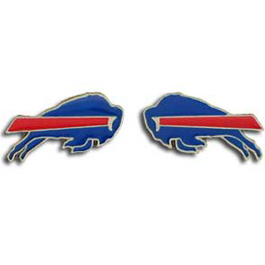 Studded NFL Earrings - Buffalo Bills - Our studded NFL team logo earrings are carved in 3D detail and enameled in team colors. Check out our entire line of licensed NFL  earrings! Officially licensed NFL product Licensee: Siskiyou Buckle Thank you for visiting CrazedOutSports.com